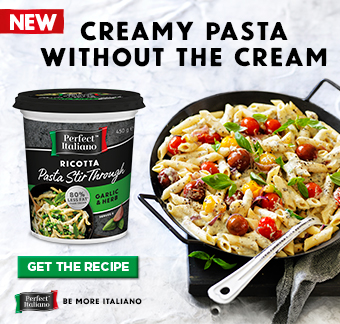 With Perfect Italiano's new stir through ricotta you can enjoy delicious pasta dishes during the week.