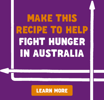 When you make this family friendly recipe idea using Foodbank supported products you are helping to support the 2016 Food Fight campaign