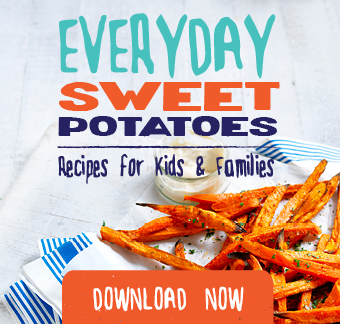 This cookbook is full of easy supercharged sweet potato recipes perfect for children and adults.