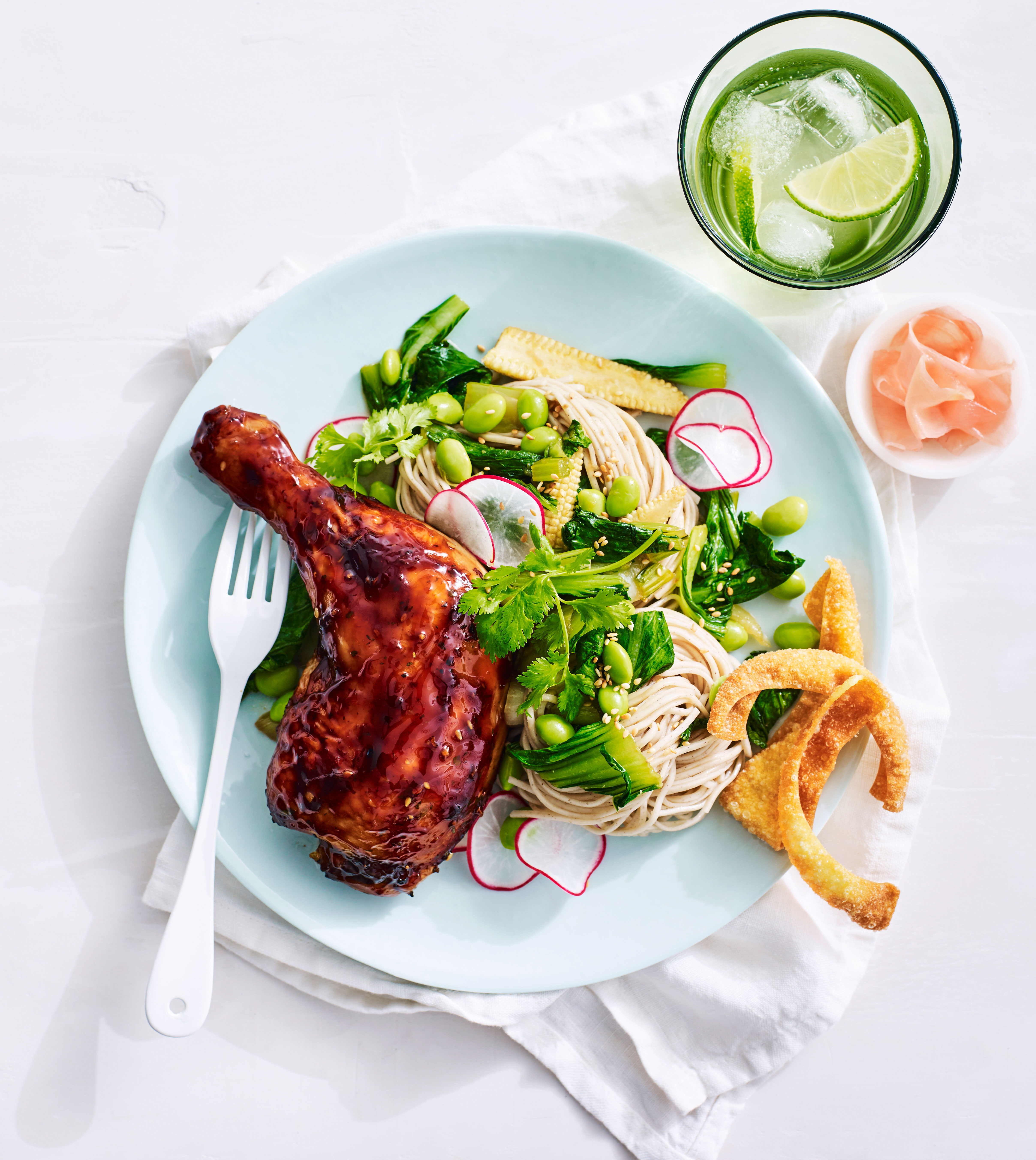 Lilydale Teriyaki Roast Chicken with Soba Noodles and Asian Greens
