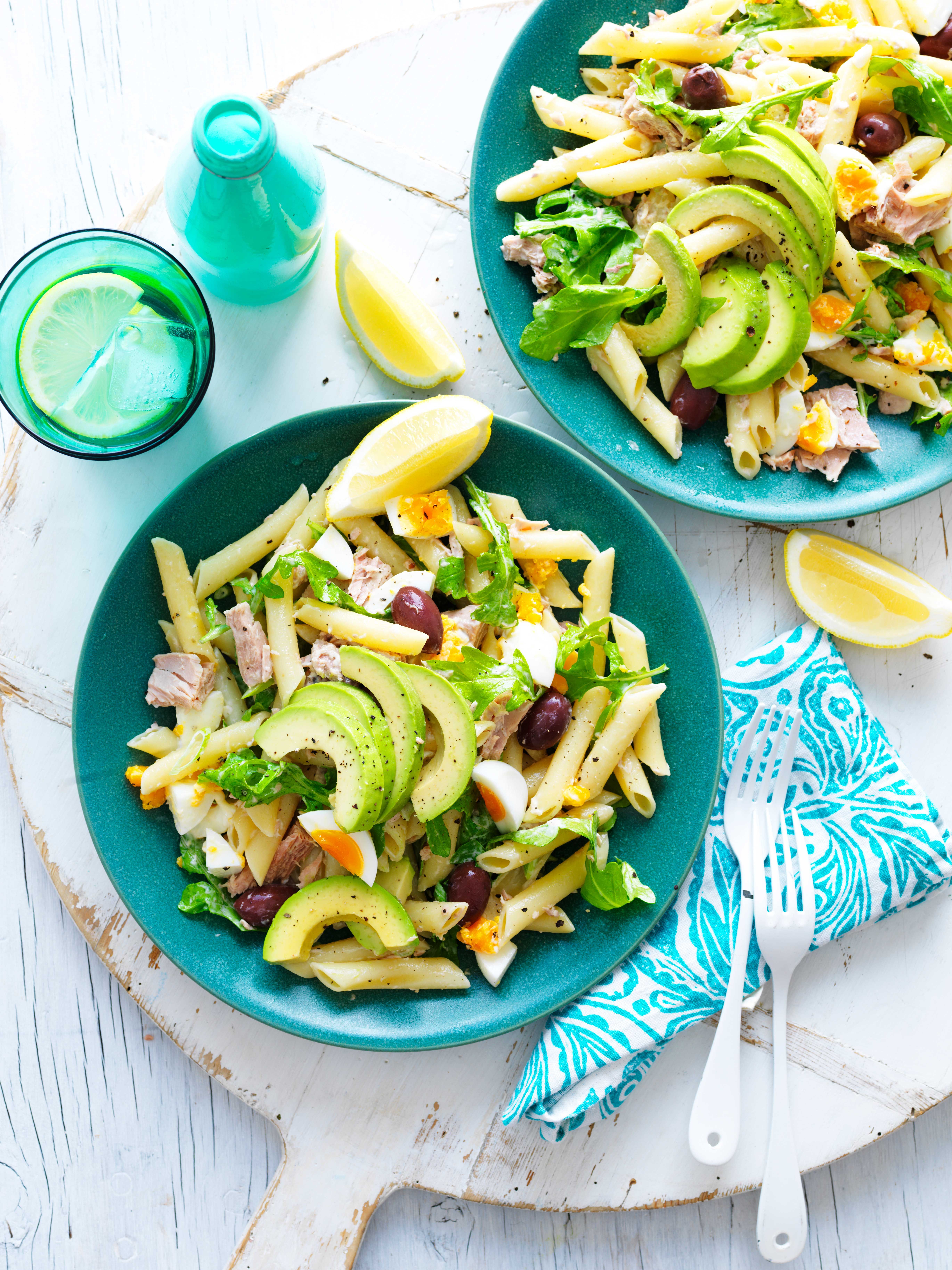 Avocado Tuna Pasta Salad