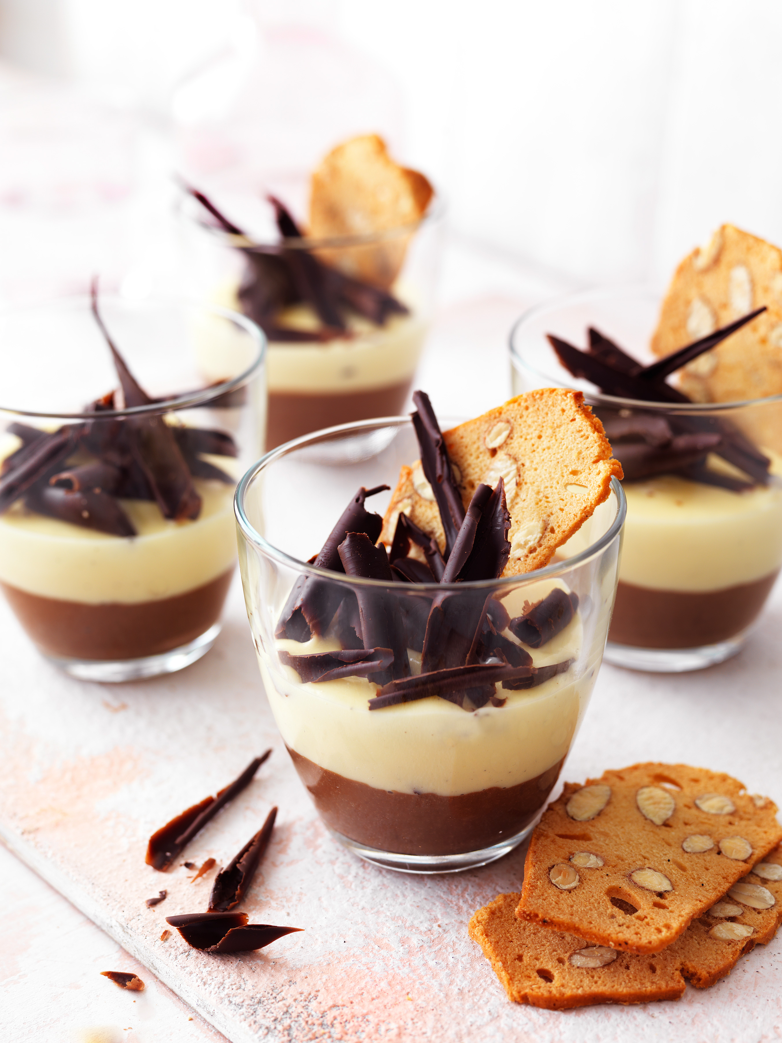 Thick custard is turned into a chocolate custard dessert perfect Easter recipes, father's day recipe, valentine's day recipe or mother's day recipe