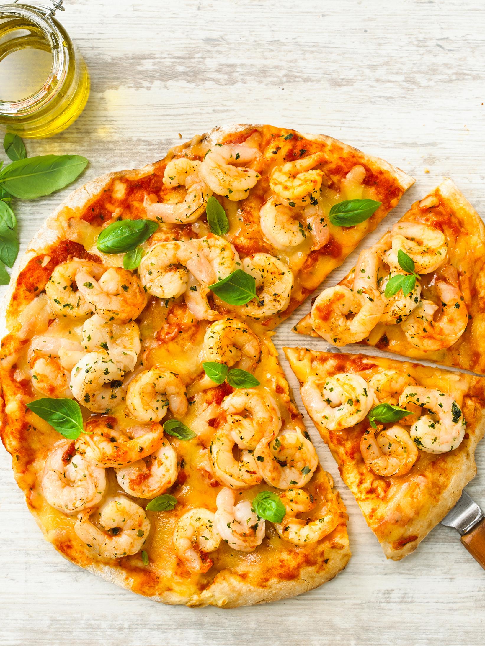 Prawn Garlic Pizza