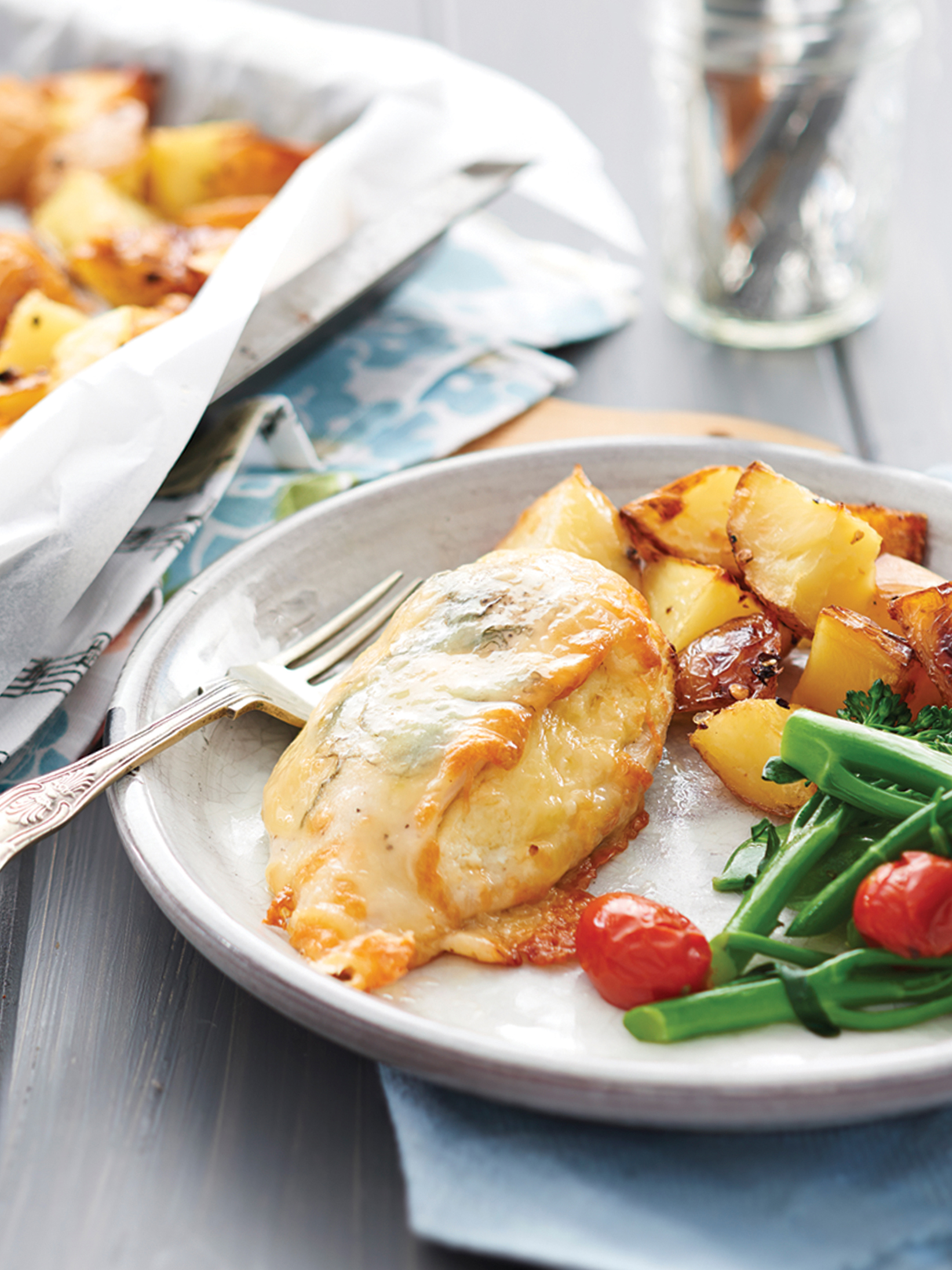 3 Cheese Chicken with Chilli Potatoes
