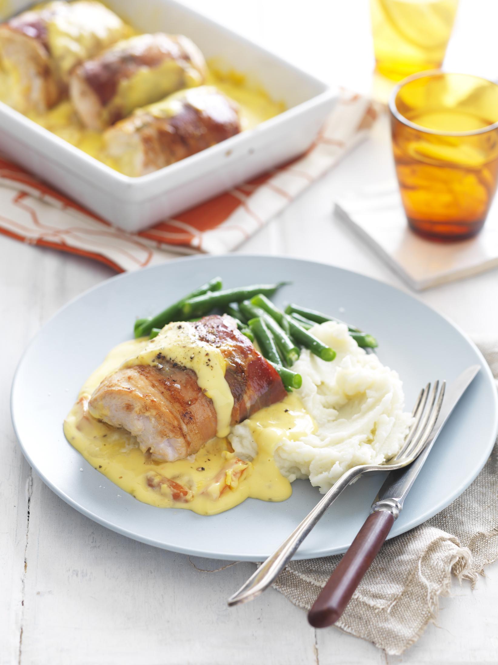 Involtini Chicken Baked With Honey Mustard Sauce Recipe Myfoodbook Chicken Tonight Honey Mustard Simmer Sauce Recipe