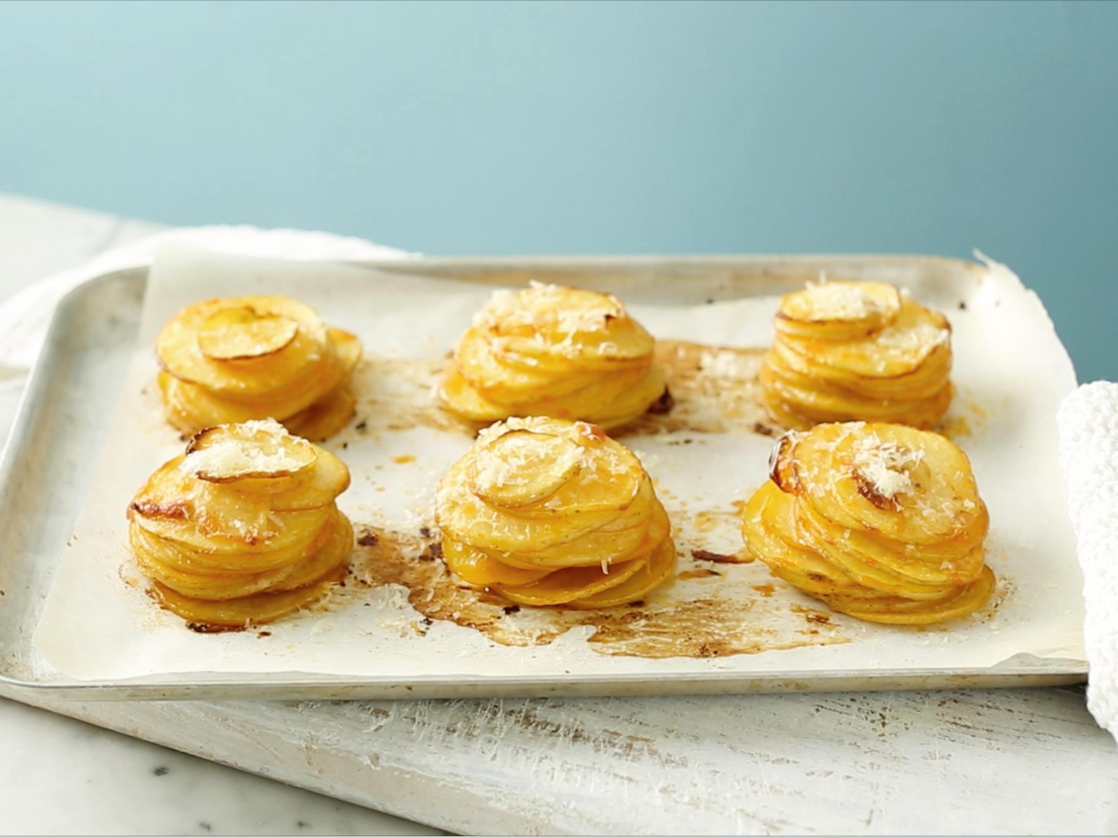 Crispy muffin tin Potato Stack recipes