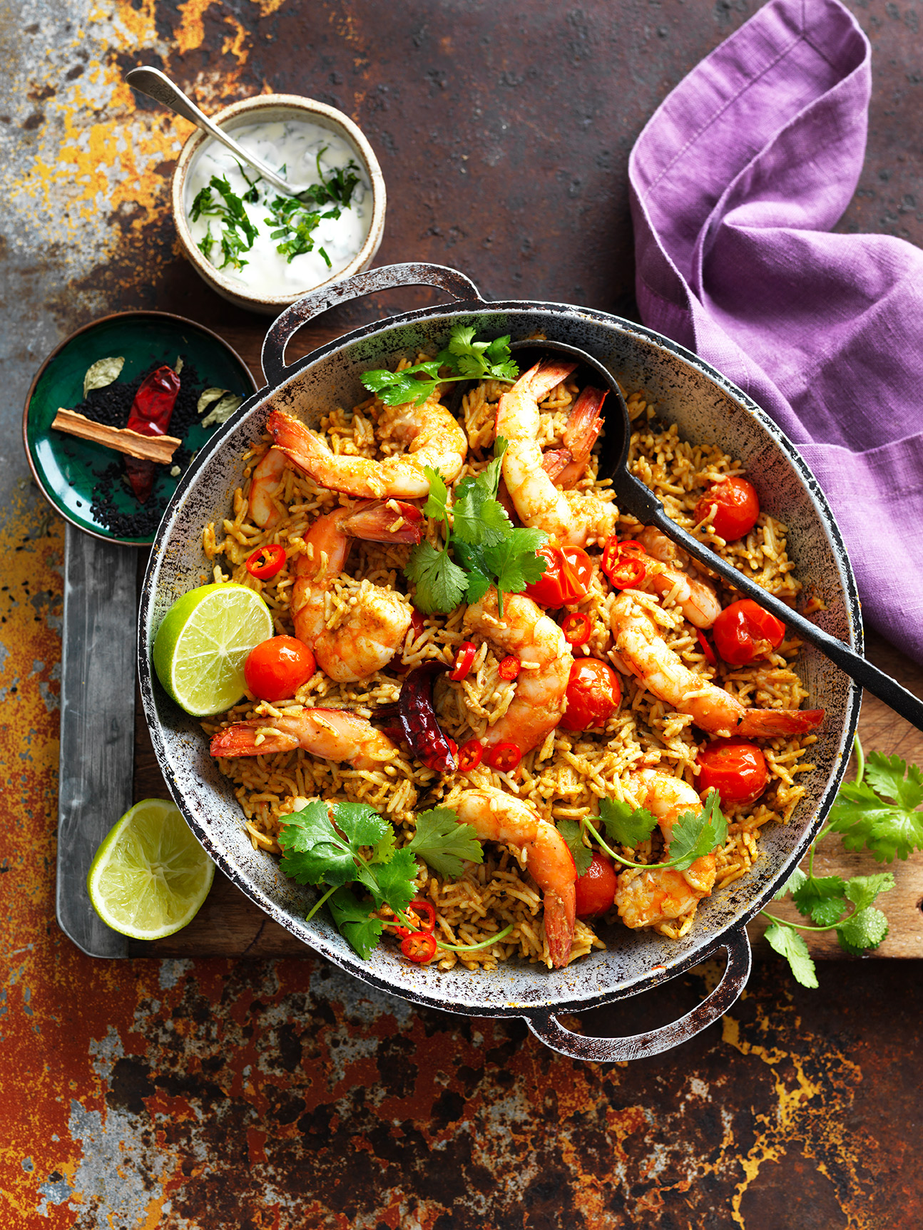 This easy One-pan Indian Prawn Curry Recipe is ready in 30 minutes for a quick weeknight dinner
