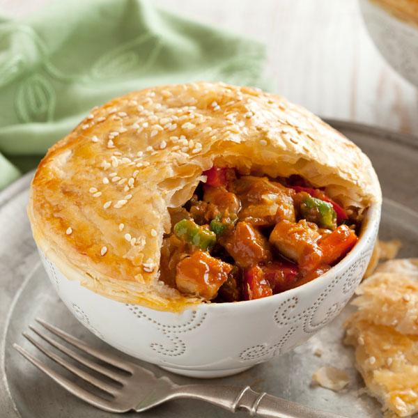 Satay Chicken Sauce Pot Pies