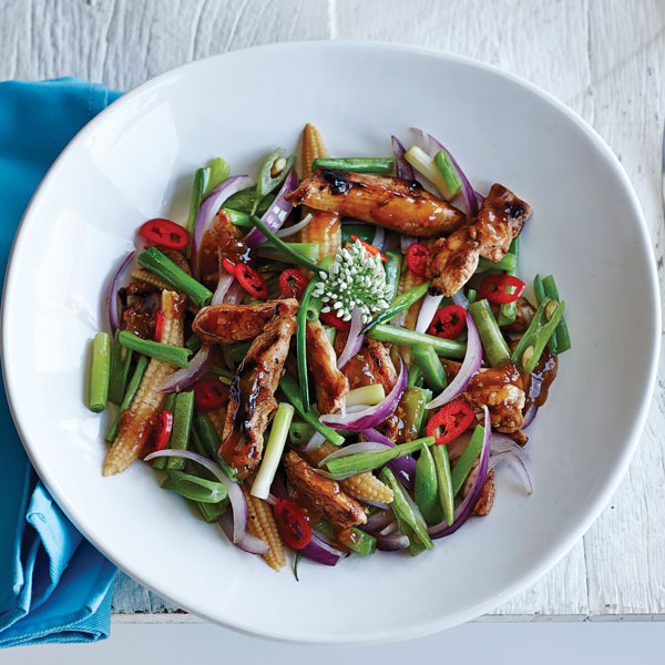 Sesame Chicken Stir Fry with Ginger & Chinese Five Spice