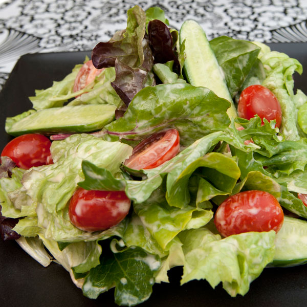 Salad Greens with Lime, Chilli and Mango Dressing