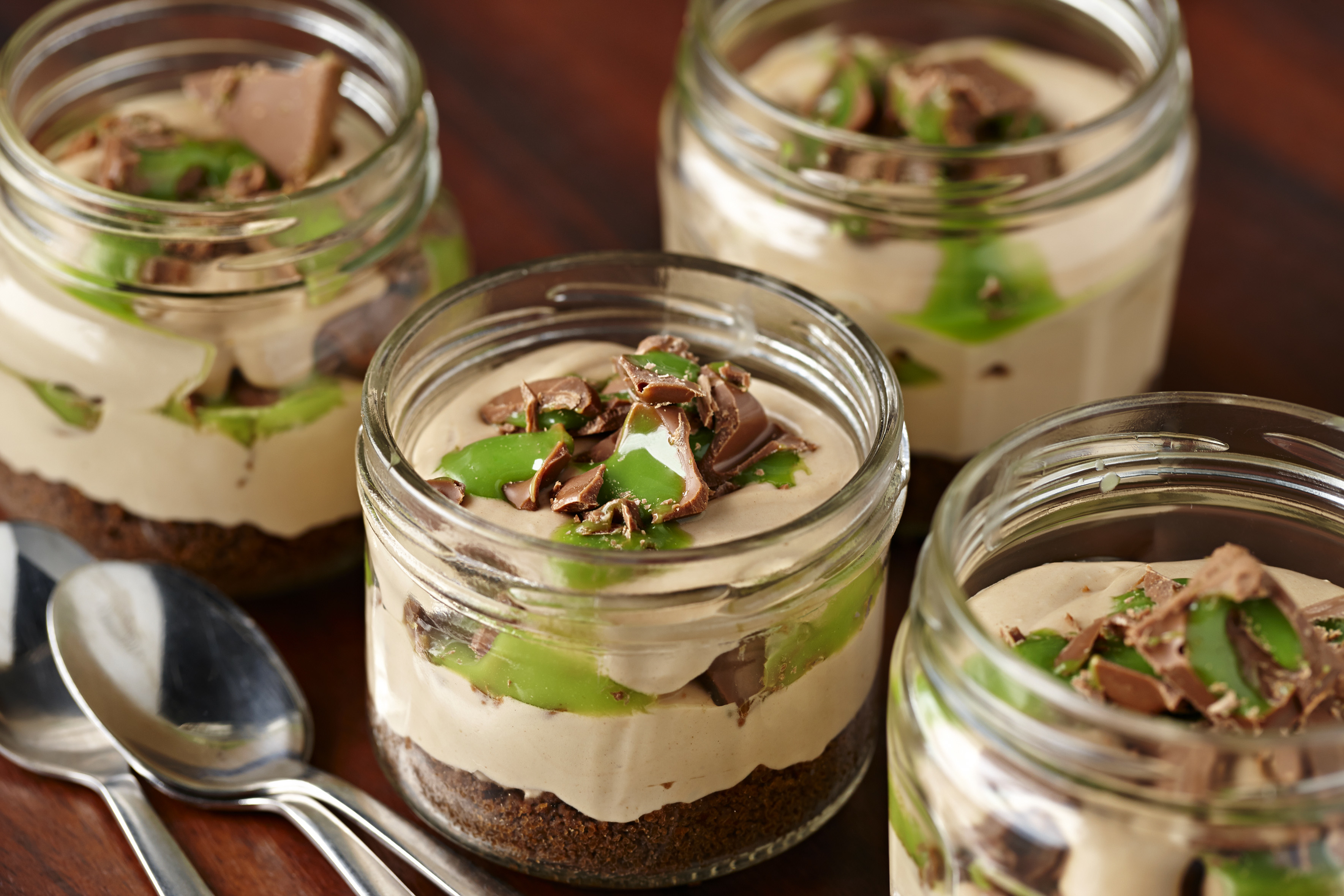 Peppermint Cheesecake in a glass recipe idea from Cadbury Kitchen
