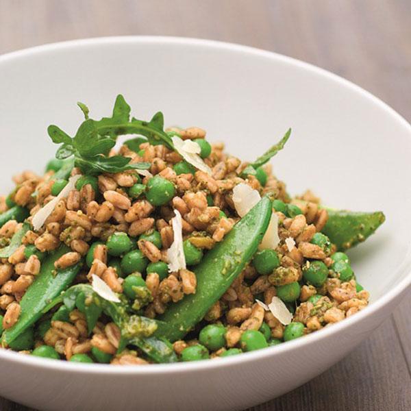 Pea, Pesto and Farro Salad