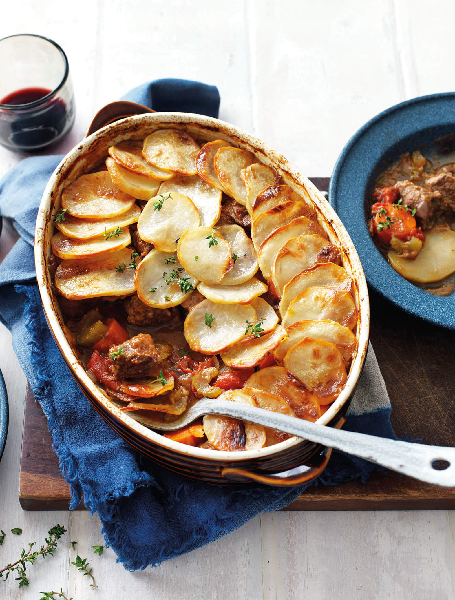 Slow cooked vegetable and lamb casserole recipe