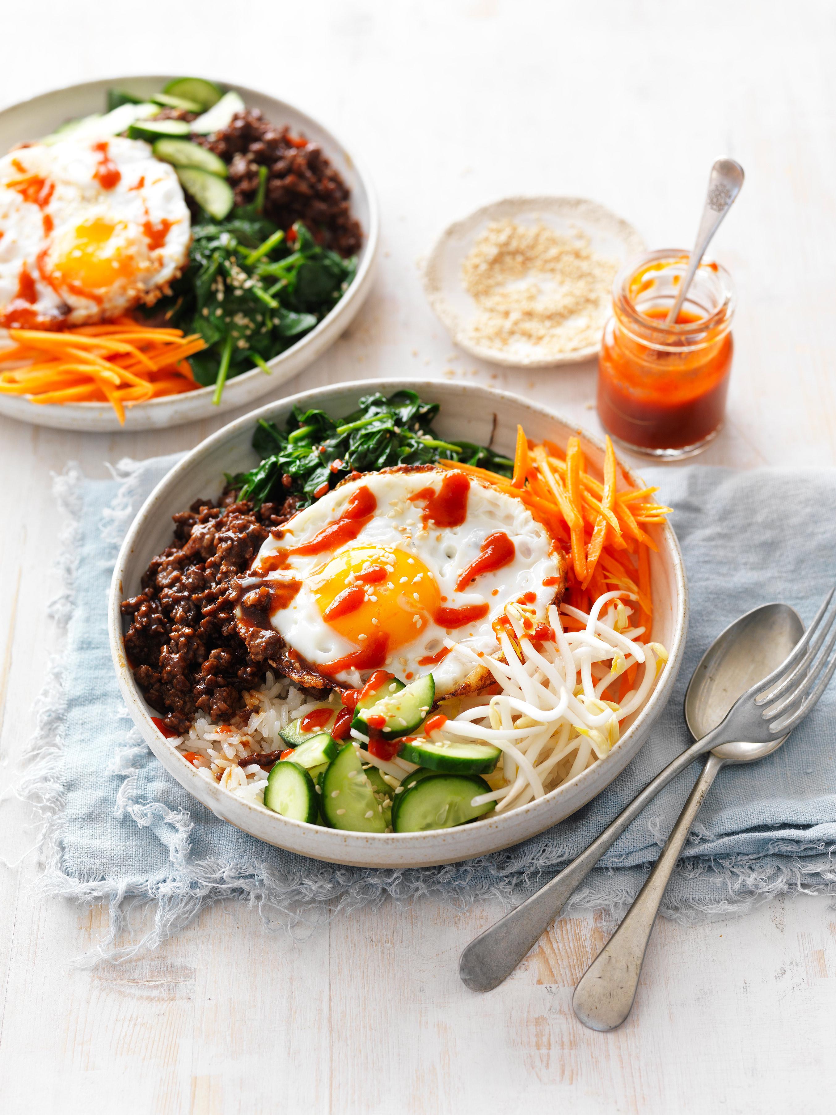 Hello fresh dinner with this easy Korean Beef Bibimbap recipe