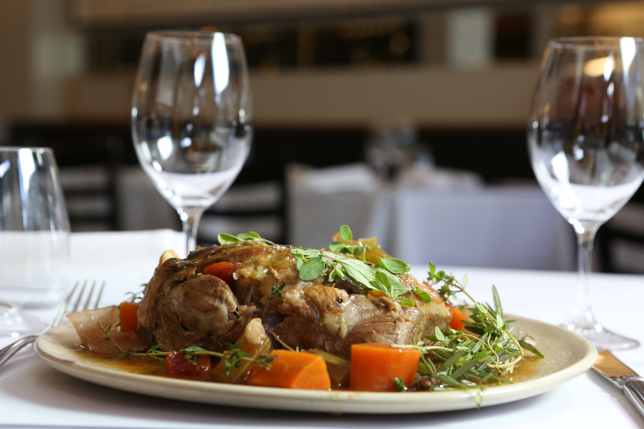 Slow Braised Lamb Shoulder with Winter Root Vegetables