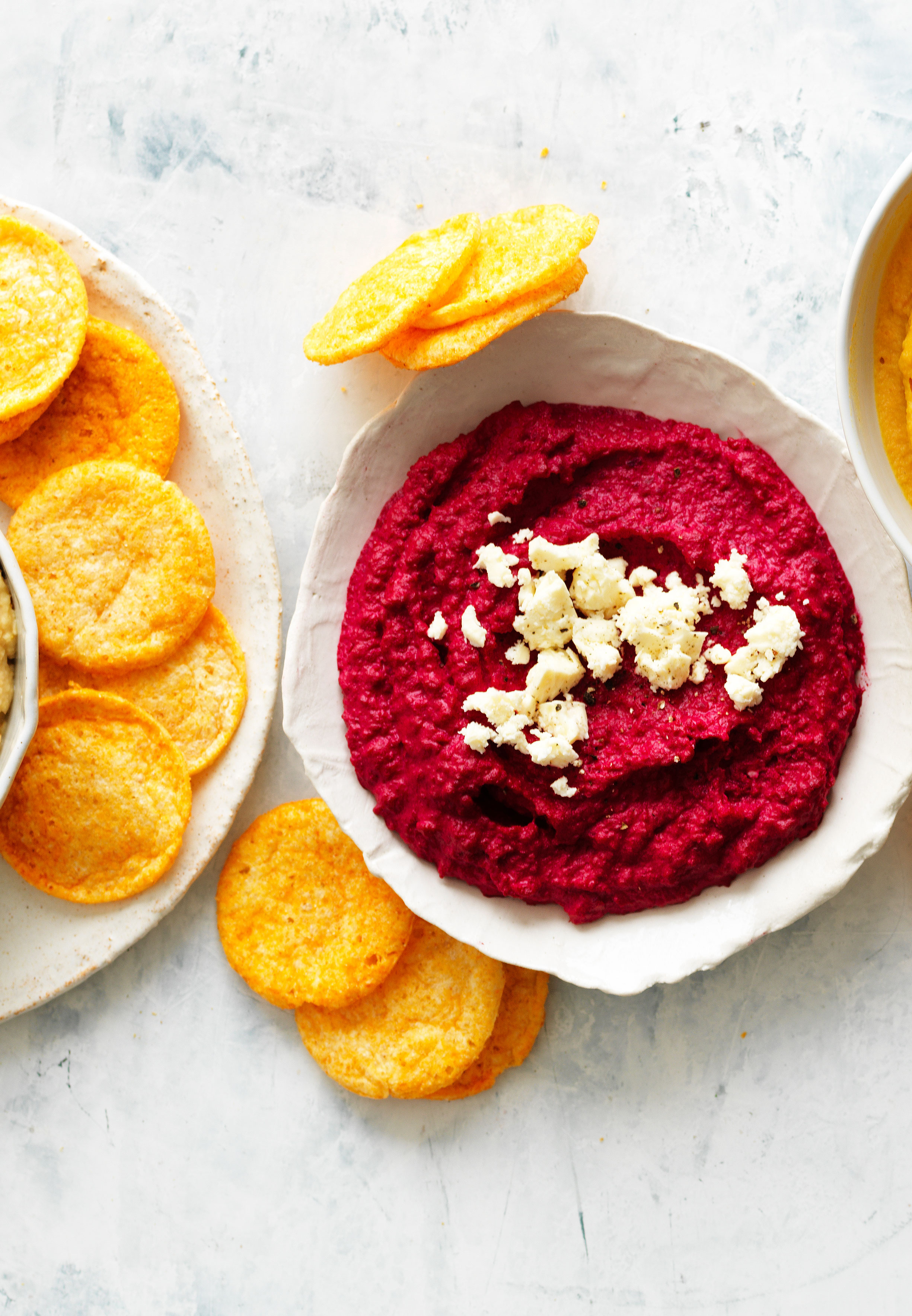 This colourful and easy beetroot hummus can be enjoyed for a easy appetiser or snack and goes perfectly with crunchy corn chips.