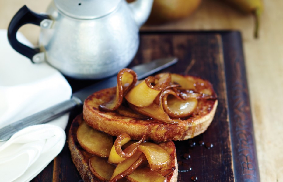 Cinnamon French Toast with Vincotto Caramelised Pear
