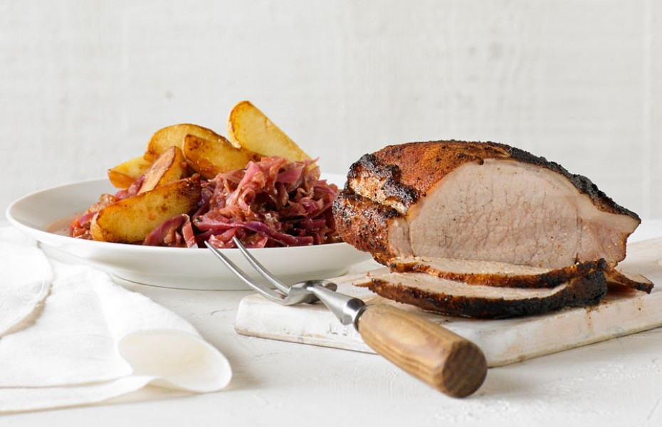 Pork Loin with Red Cabbage