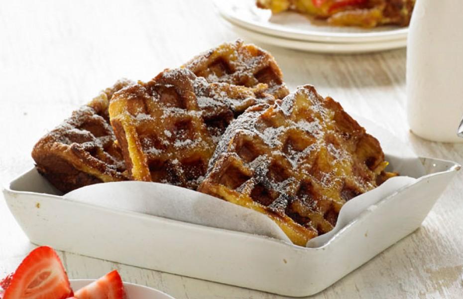 French Brioche with Marmalade Waffle