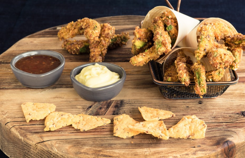 Avocado Fries and Dipping Sauce