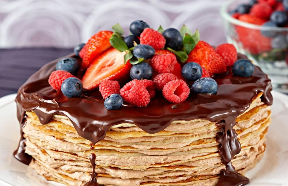 Tiramisu Chocolate Crepe Layer Cake