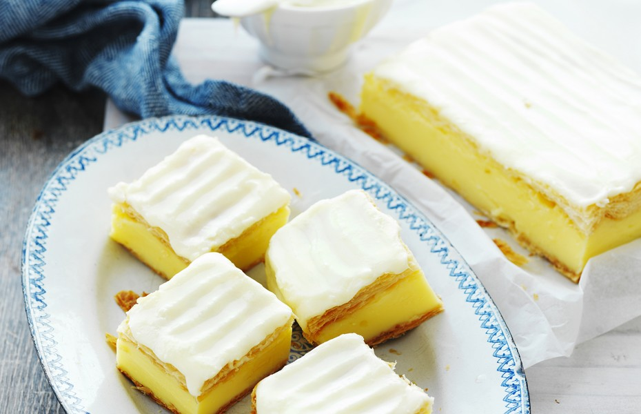 Iced Vanilla Custard Slice Recipe Devondale Cookbook