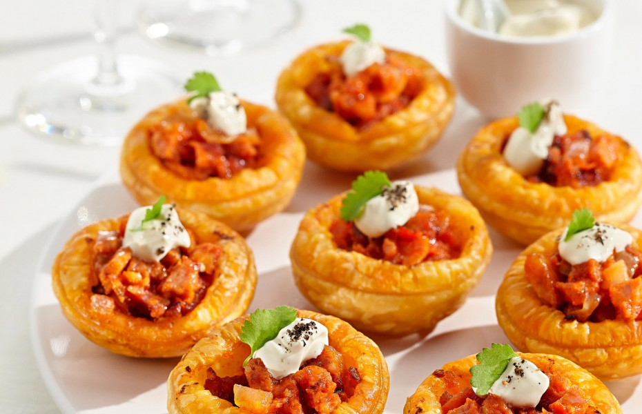 One Bite Chorizo Tarts