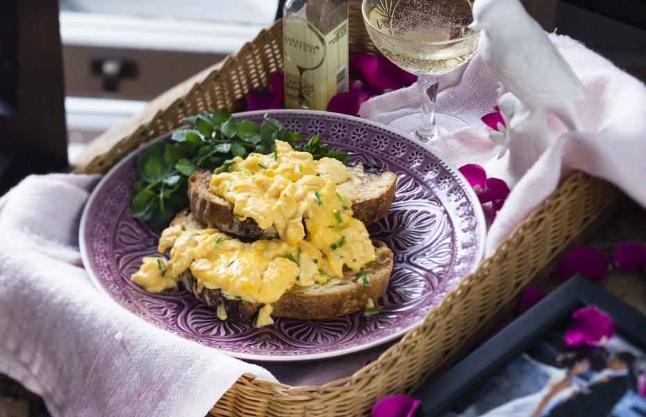 Truffled Scrambled Eggs