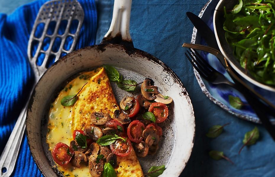 Mushroom and Tomato Omelette