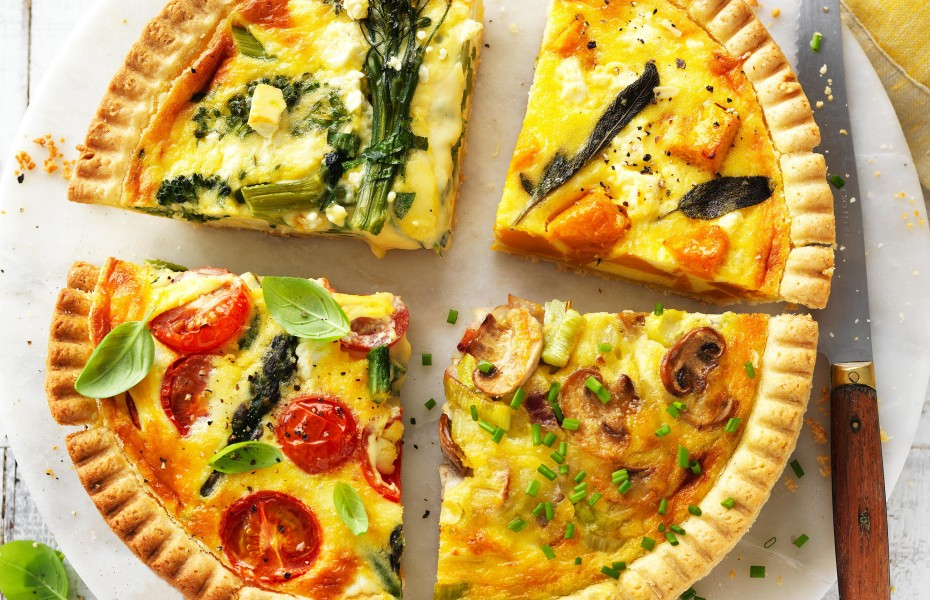 How to make quiche using leftovers