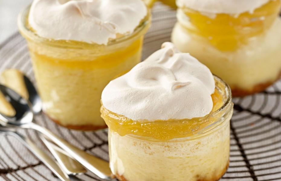Baked Lemon Meringue Cheesecakes