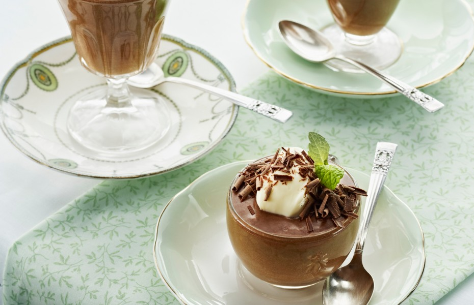 Mint and Dark Chocolate Mousse