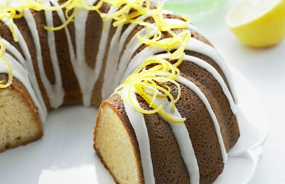 Iced Lemon Pound Cake