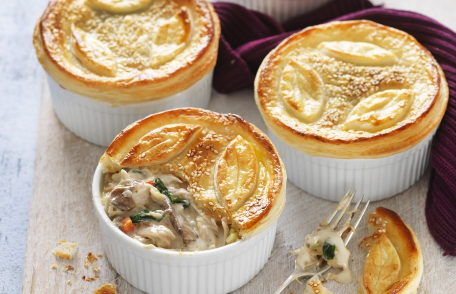Chicken, Leek and Mushroom Individual Pies