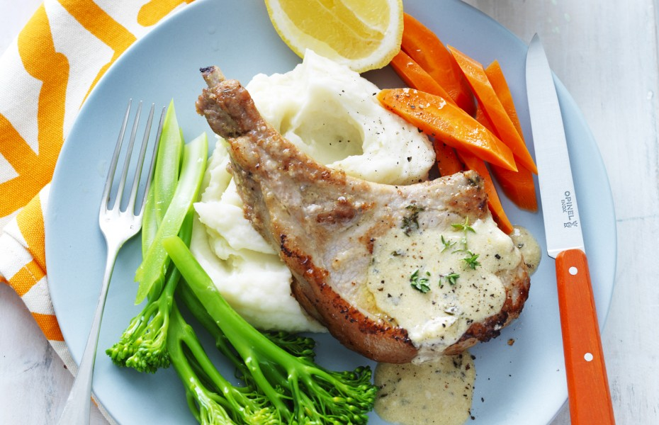 Milk Braised Pork Loin Chops