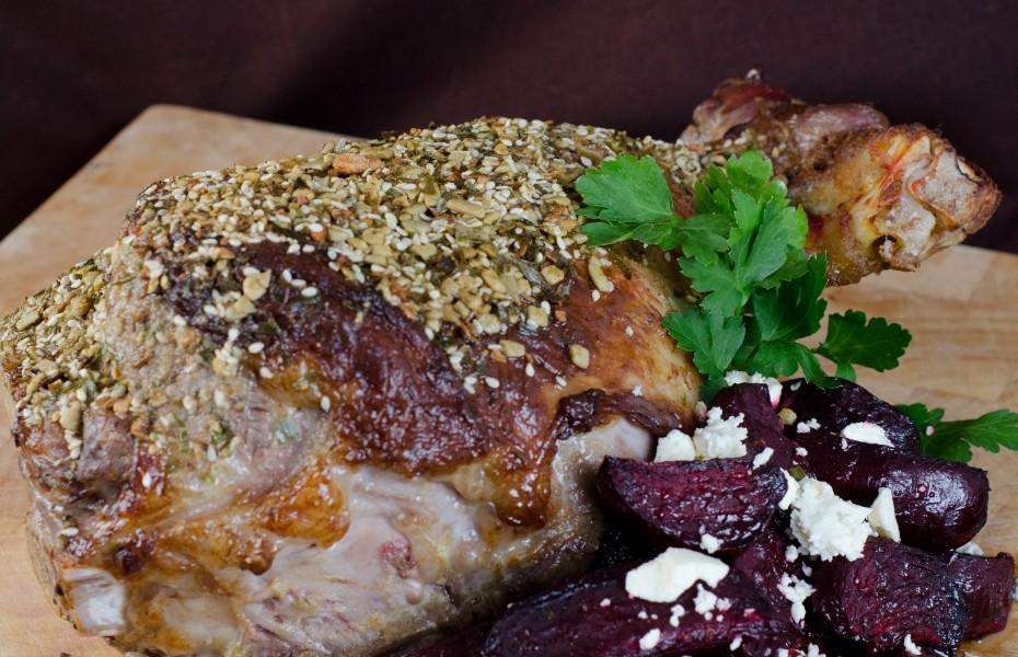 Leg of Lamb with Dukkah Crust