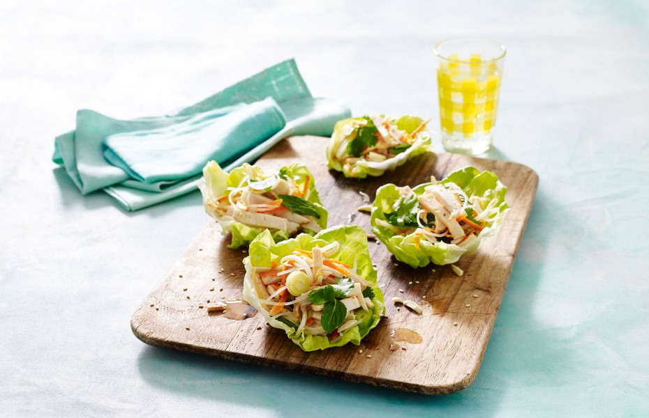 Asian Chicken Breast Lettuce Cups