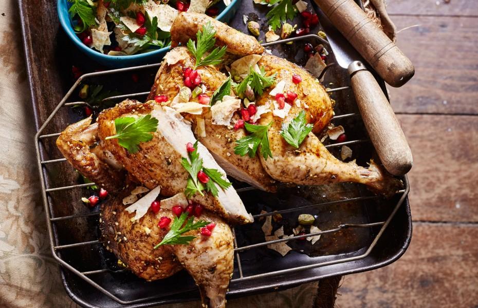 Flattened Zaatar Lilydale Whole Chicken