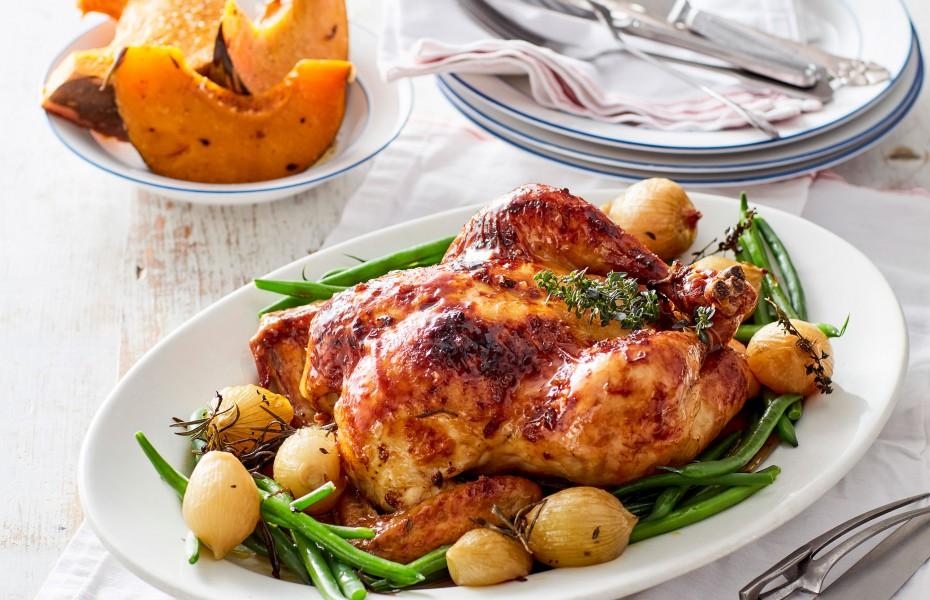 Maple Glazed Roast Chicken