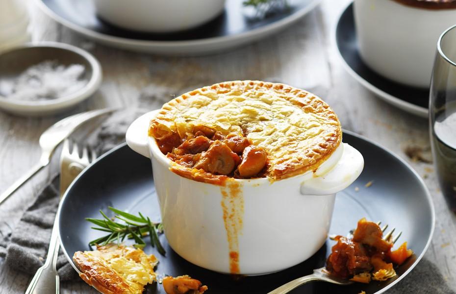 Mushroom and Lamb Shankpot Pies Recipe