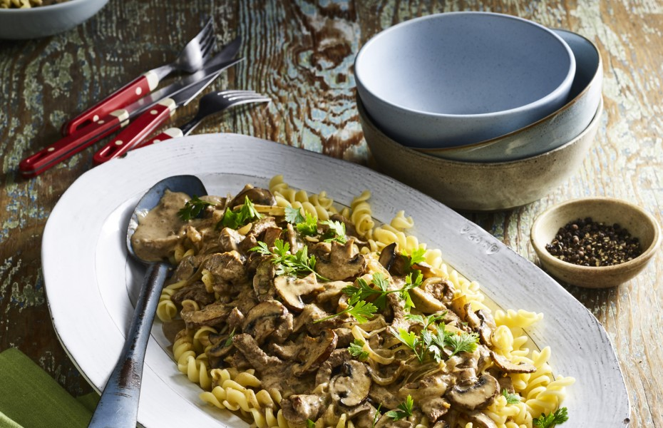 Quick and Easy Beef and Mushroom Stroganoff