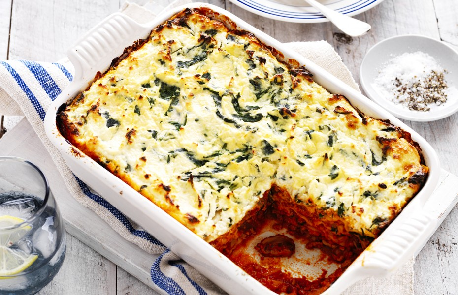 Spinach, Ricotta and Mushroom Lasagne Recipe