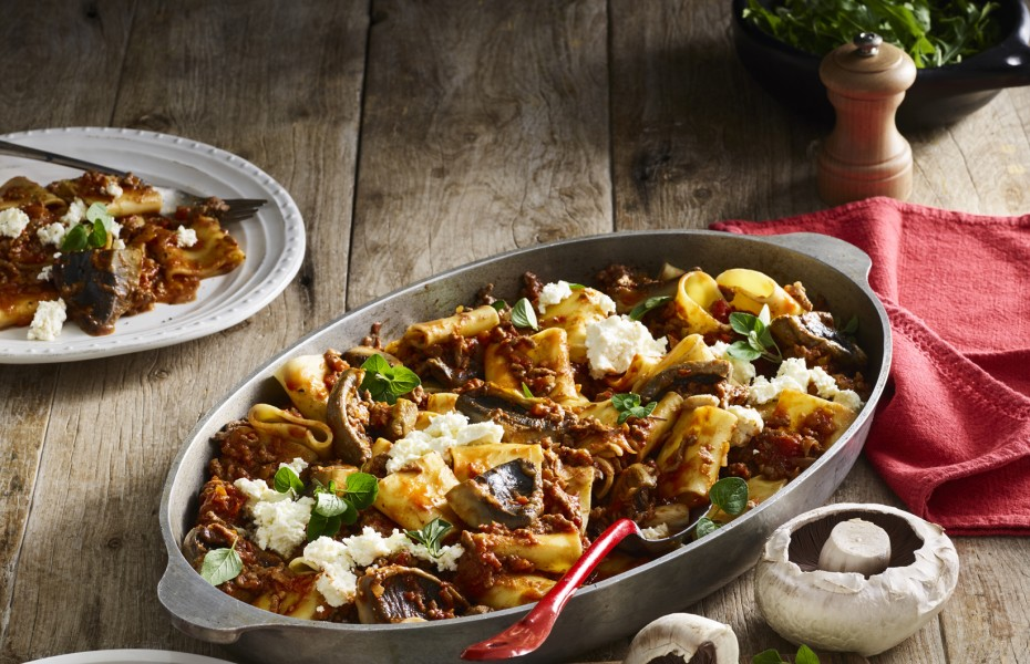 Nona's Bolognese with Mushrooms and Red Wine