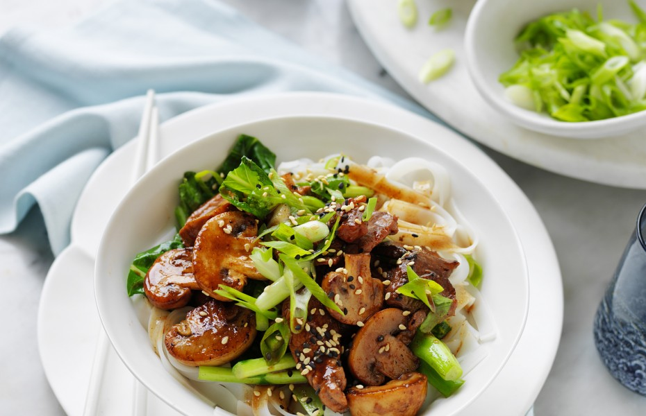 Mushroom and Char Siu Pork Stir Fry