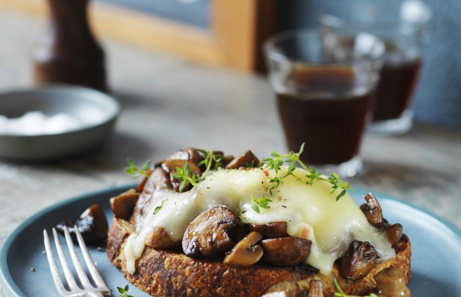 Mushrooms and Taleggio on Sourdough