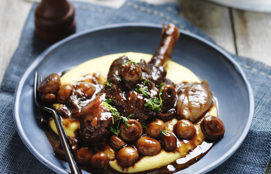 One Pot Lamb Shanks with Button Mushrooms