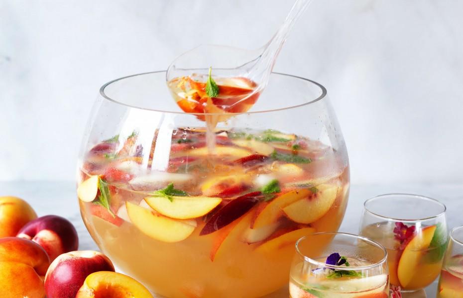 Nectarine mocktail punch recipe