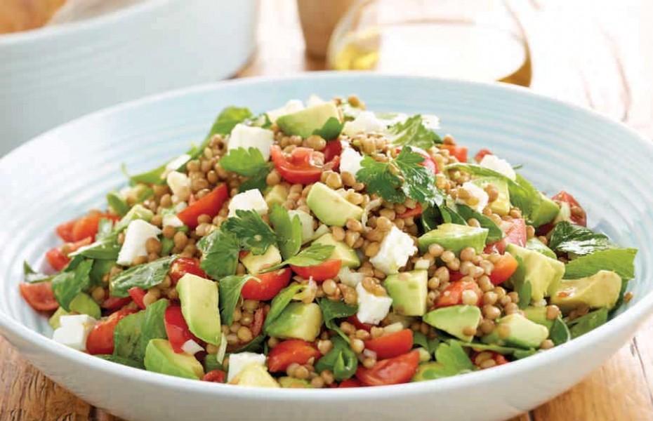 Avocado and lentils recipe