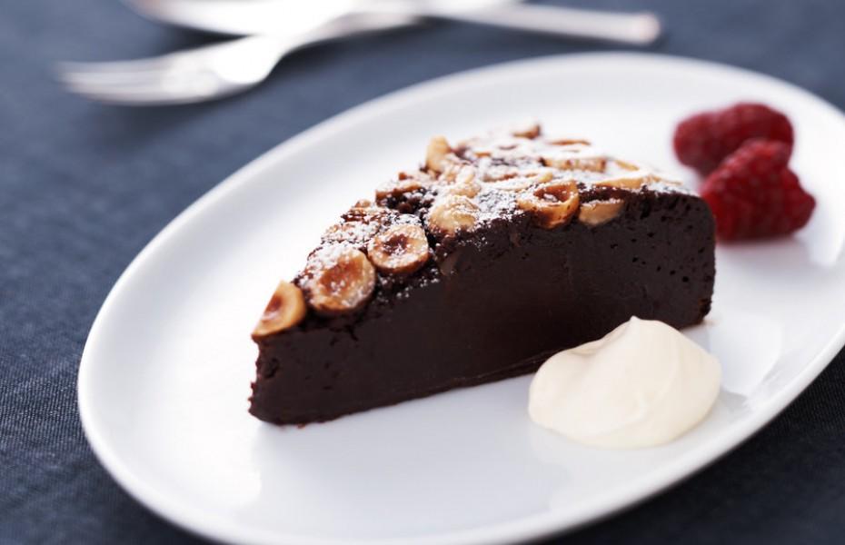 Baked Chocolate Hazelnut Mousse Cake