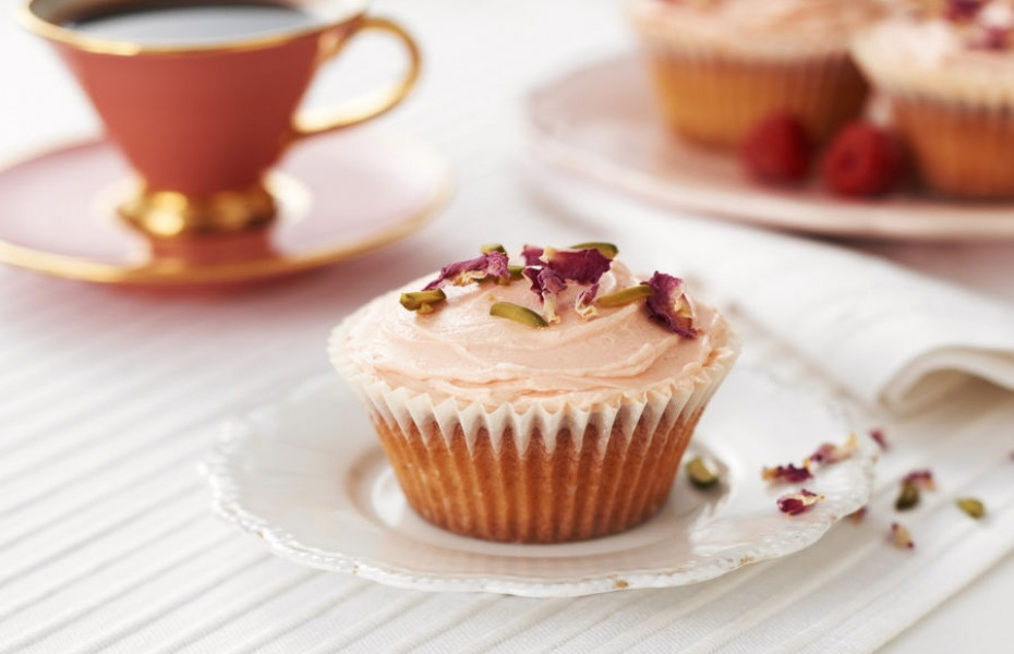 Raspberry and Rose Cupcakes